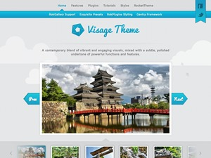 Visage WP theme