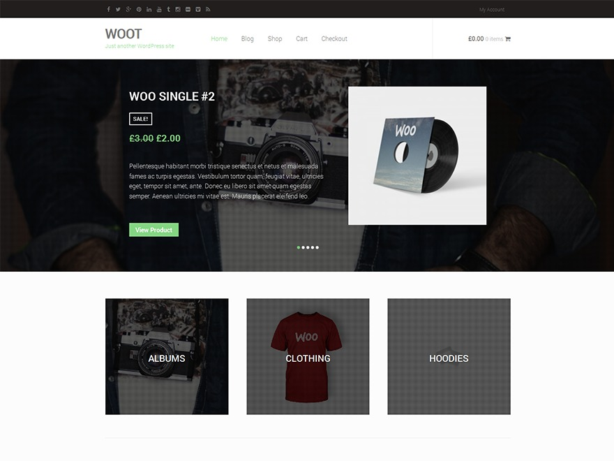 WOOT free website theme