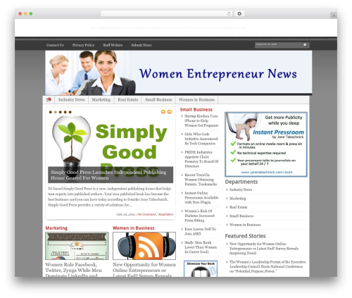 WordPress template Blognews - womenentrepreneurnews.com
