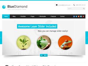 WordPress template Blue Diamond (shared on wplocker.com)