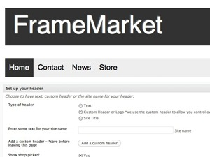 WordPress template FrameMarket