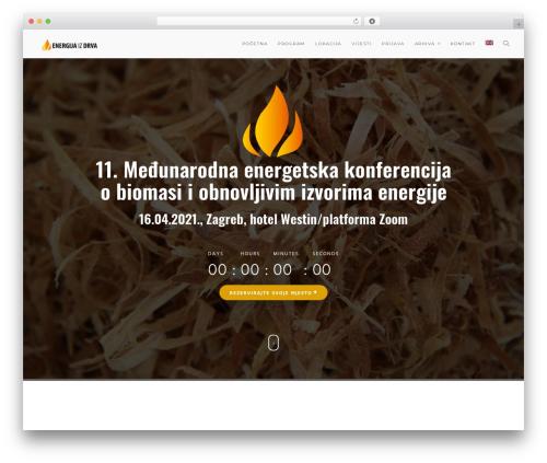 WordPress template Modular - wood-energy.info