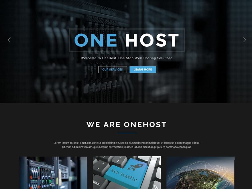 WordPress template OneHost