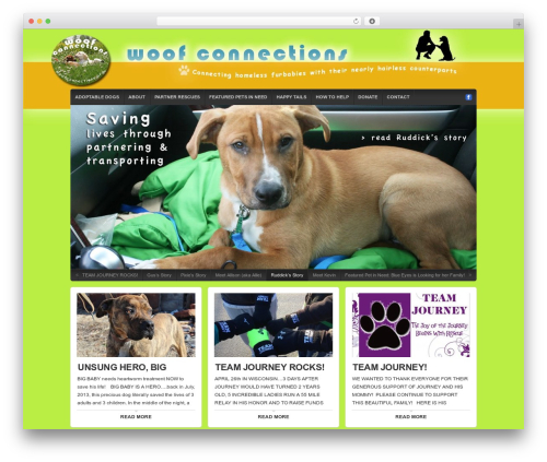 WordPress template Organic Natural Theme - woofconnections.org