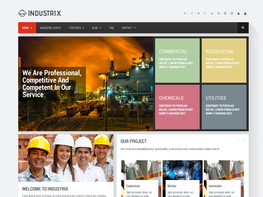 WordPress theme Industrix