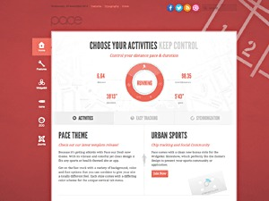 WordPress website template Pace