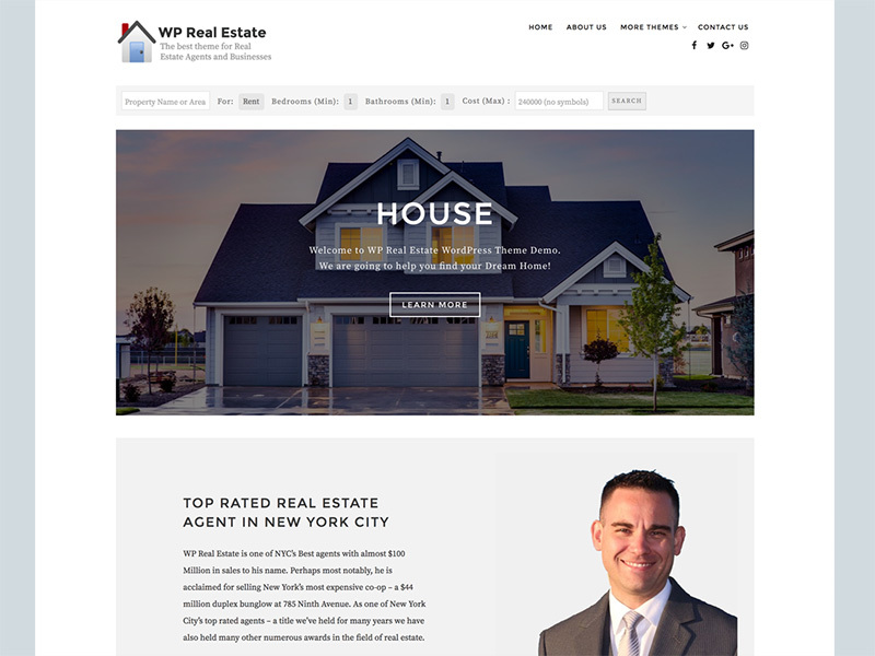 WP Real Estate WordPress theme download