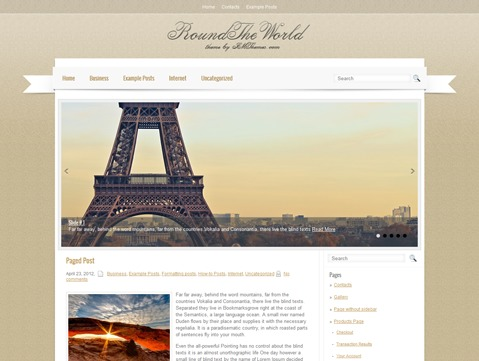 WP theme RoundTheWorld