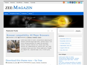 zeeMagazine WordPress news template