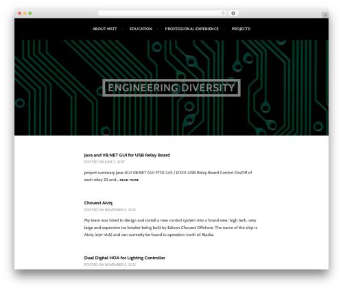 Argent WordPress theme free download - matthewolinger.com