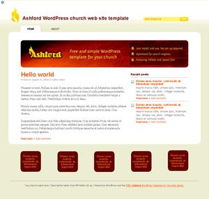 Ashford Basic business WordPress theme