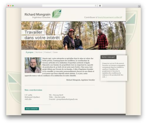 BLANK Theme WordPress website template - mongrainingenieurforestier.ca