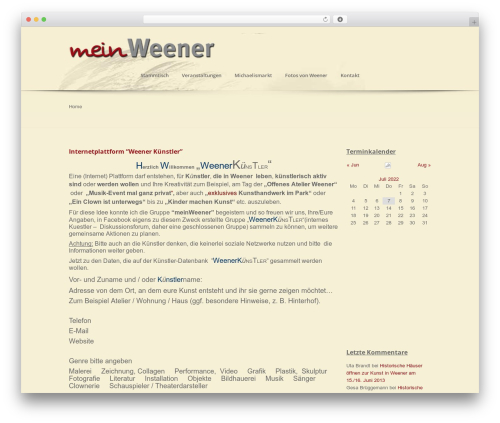 WordPress event-calendar-3-for-php-53 plugin - meinweener.de