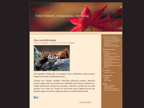 Dark Maple WordPress website template