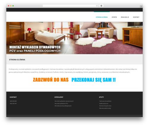 Formation best free WordPress theme - montaz-wykladzin.pl