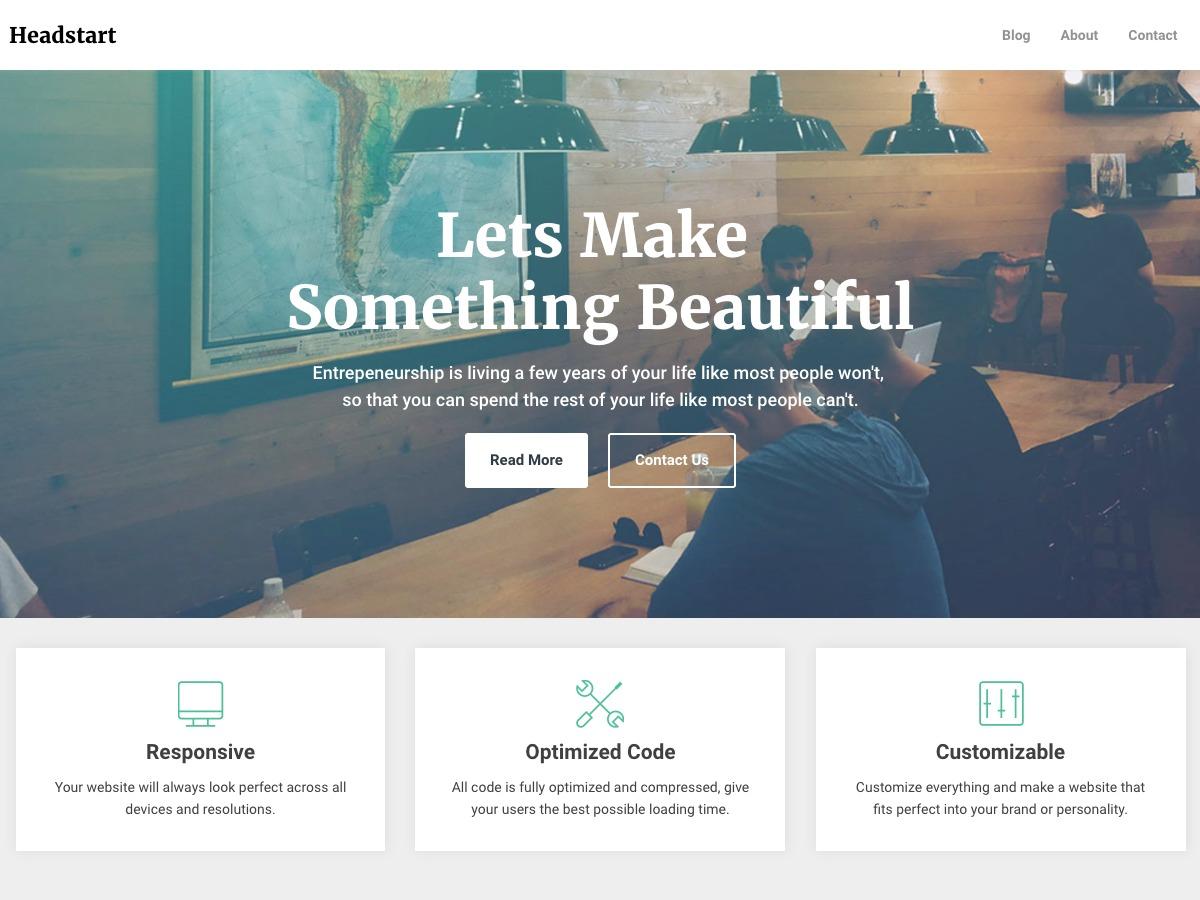 Headstart newspaper WordPress theme