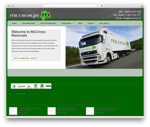 klwd WordPress template for business - mccrorys.ie