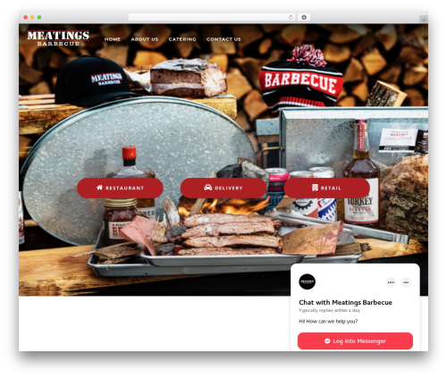 Niku WordPress restaurant theme - meatings.ca