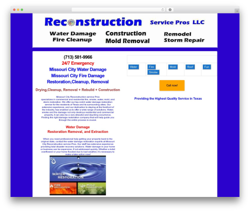 Responsive theme WordPress free - missouri-city.reconstructionservicepros.com