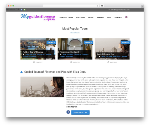 Tour Package theme WordPress - myguideinflorence.com