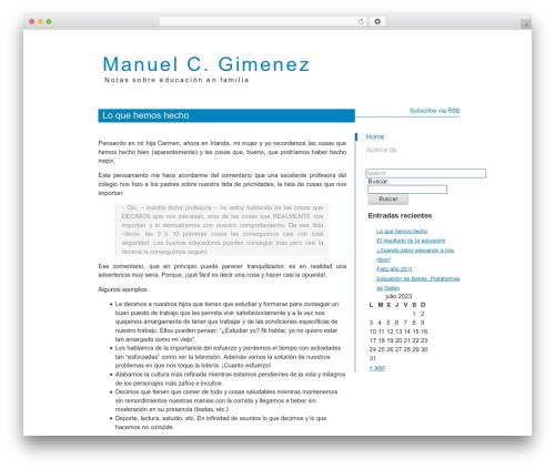 WordPress theme Kasrod - manuelcgimenez.es