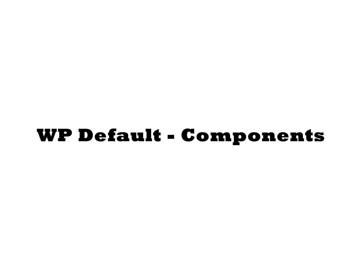 WP Default theme WordPress