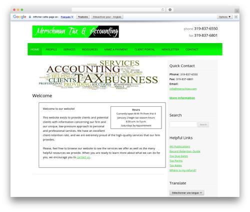 Customized template WordPress - merschtax.com