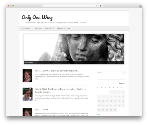 Fresh And Clean WP theme - yateswolfe.com/wpsite