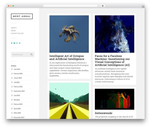 Fukasawa free WordPress theme - mertakbal.com
