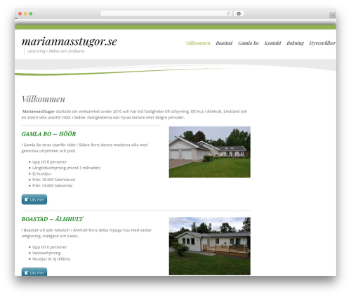 Longevity WordPress template free download - mariannasstugor.se