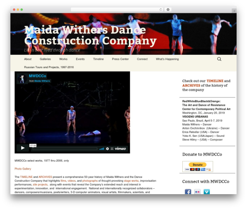 Maida Withers Dance Construction Company premium WordPress theme - maidadance.org