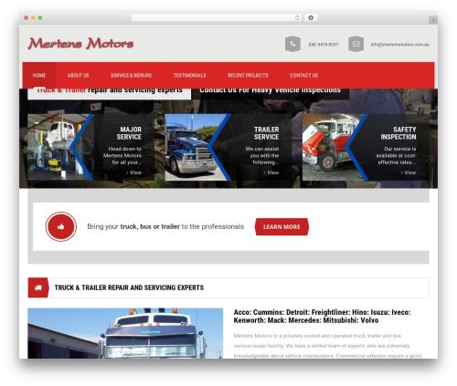 Mechanic car rental WordPress theme - mertensmotors.com.au