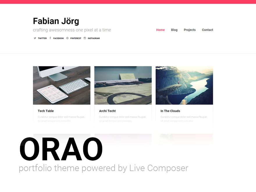 Orao theme WordPress portfolio