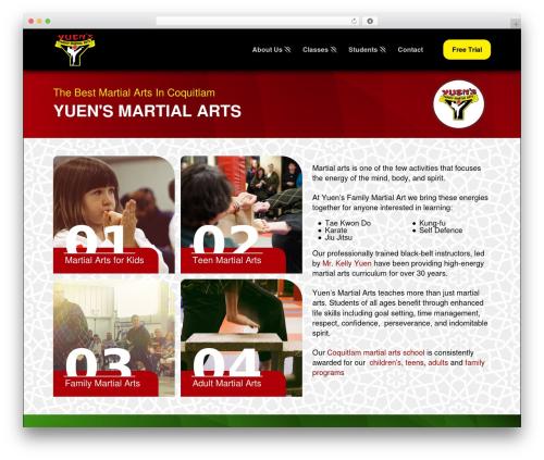 Pro WP theme - yuensmartialarts.com