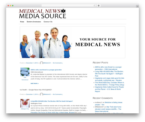 Theme WordPress Responsive - medicalnewsmediasource.com