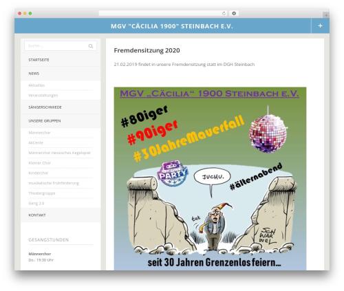Theme WordPress Tatami - mgv-caecilia-1900.de