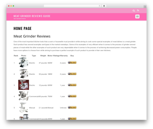 Themify Magazine WP theme - meatgrinderreviewsguide.com