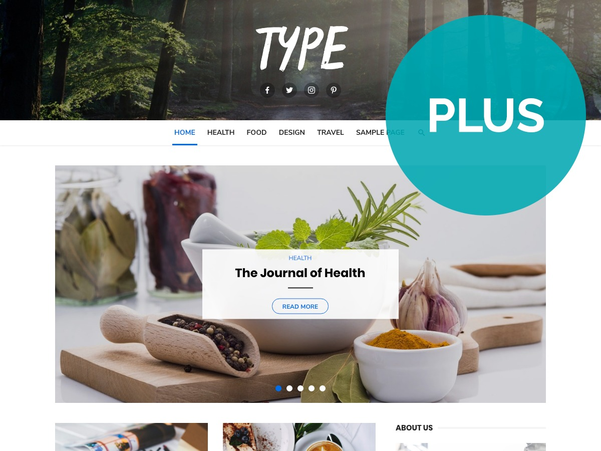 Type Plus WordPress store theme