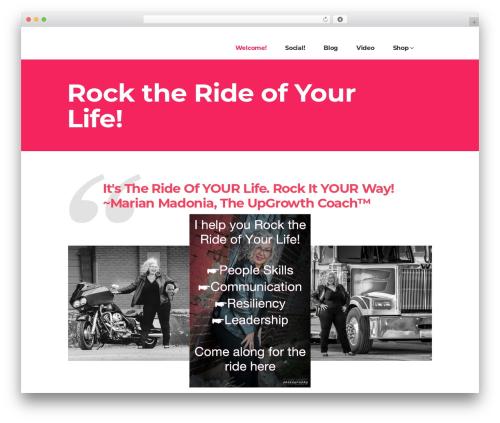 WordPress template Pitch - marianmadonia.com