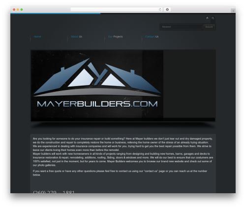 WP theme Business Design Theme - mayerbuilders.com