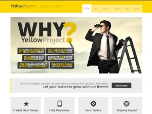 YellowProject Multipurpose Retina WP Theme WordPress portfolio template