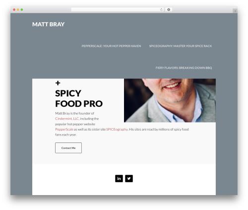 Author Pro Theme WordPress template - mattbray.me