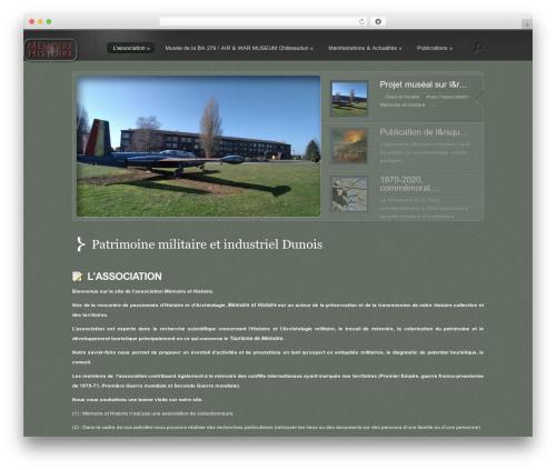 Best WordPress template Lumin - memoireethistoire.com