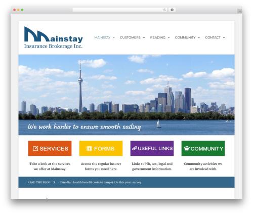 Best WordPress theme Clean Education Pro - mainstayinsurance.ca
