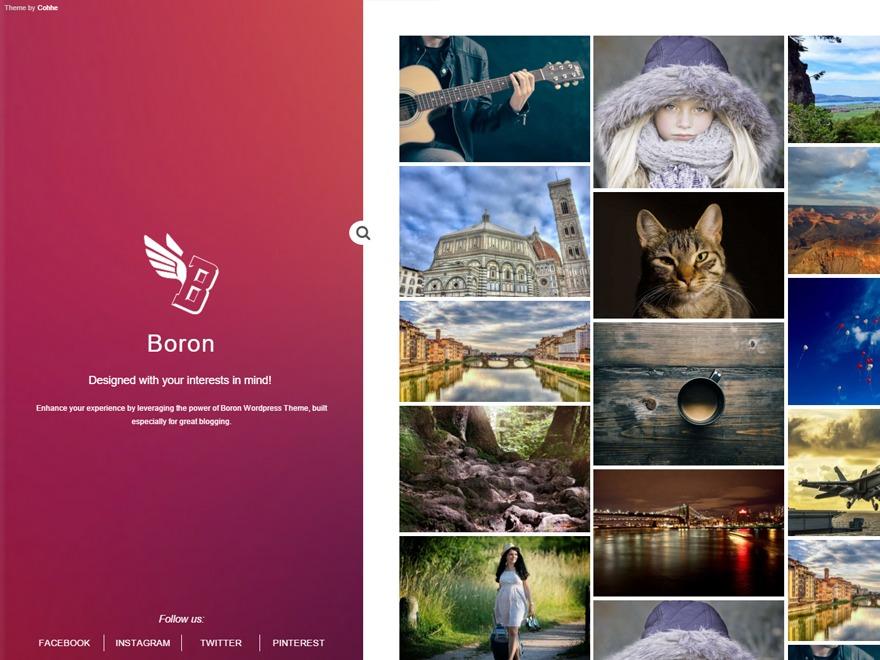 Boron WordPress travel theme