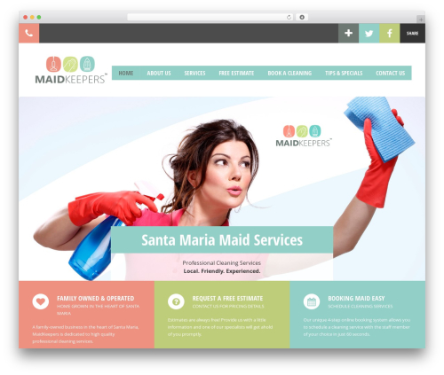Doctor+ WordPress template - maidkeepers.com