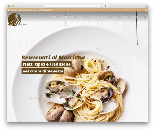 Grand Restaurant best restaurant WordPress theme - marcianavenice.com/it