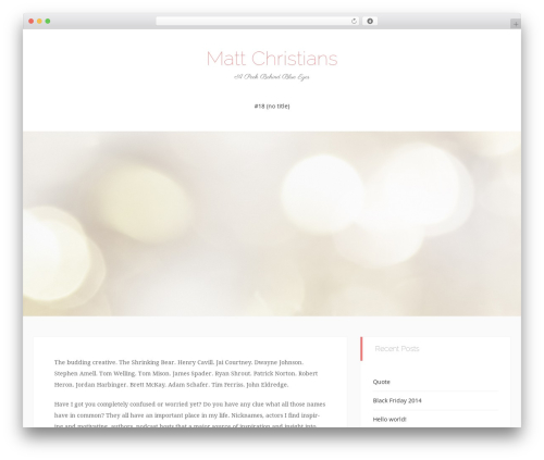 Match theme free download - mattchristians.com