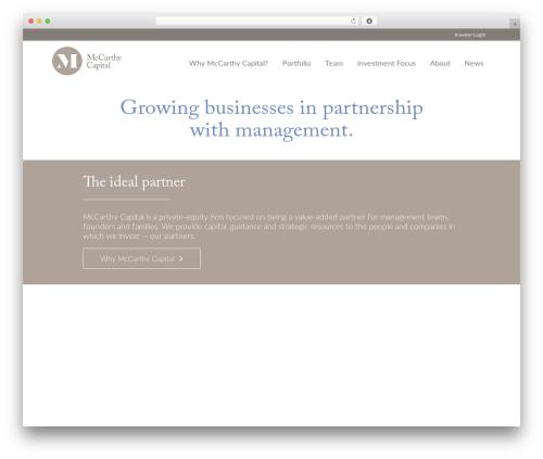 McCarthy Capital WordPress template for business - mccarthycapital.com