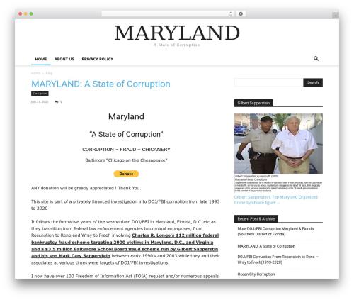 Newspaper WordPress magazine theme - marylandcorruption.com